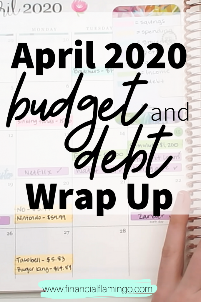 April 2020 Budget and Debt Wrap Up